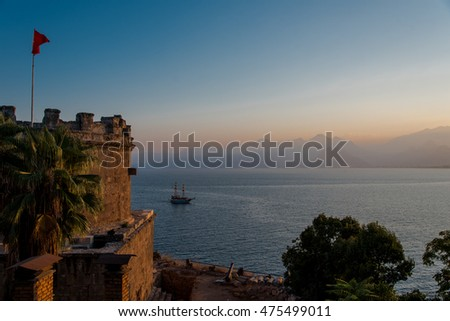 Antalya Oldtown by sunset