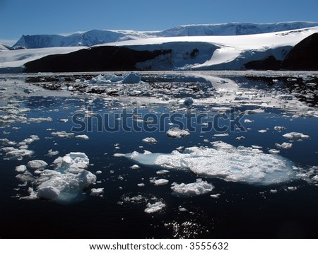Antarctic coast - stock photo