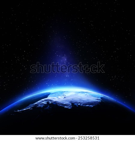 Antarctic. Elements of this image furnished by NASA - stock photo