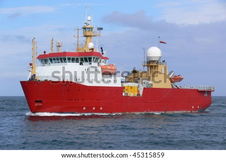Antarctic Expeditionary Vessel - stock photo