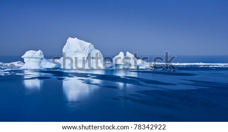 Antarctic Glacier in the snow - stock photo