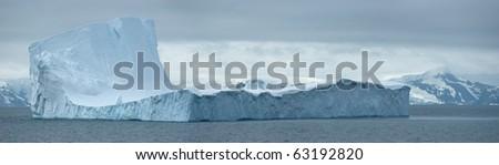 Antarctic ice island in atlantic ocean. South Orkney Islands. - stock photo