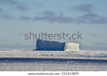 Antarctic iceberg - stock photo