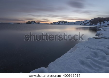 Antarctic Landscapes  - stock photo