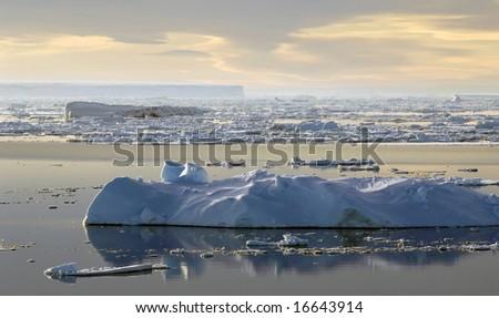 Antarctic meditation - stock photo