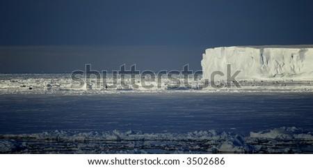 Antarctic mood - stock photo
