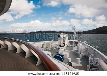 Antarctic ocean from the ship - stock photo