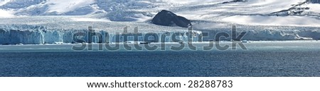Antarctic Panorama - stock photo