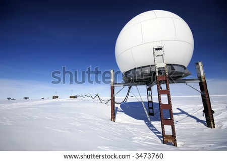 Antarctic research station - stock photo