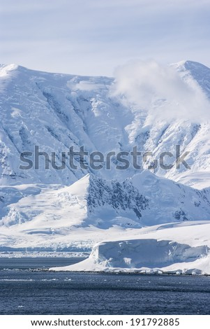 Antarctica - Antarctic Peninsula - Frozen Landscape / Antarctica - Frozen Landscape - stock photo