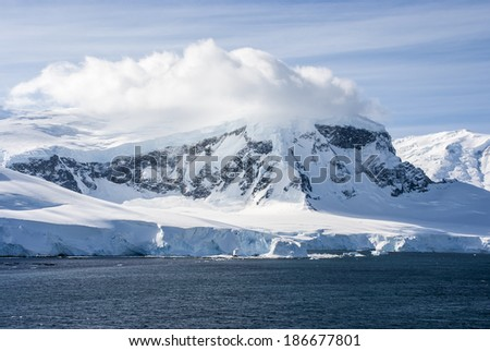 Antarctica - Antarctic Peninsula - Palmer Archipelago - Neumayer Channel - Global warming - Fairytale landscape / Antarctica - Fairytale landscape in a sunny day - stock photo