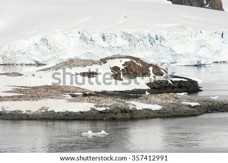 Antarctica - Coastline of Antarctica With Ice Formations - Global Warming