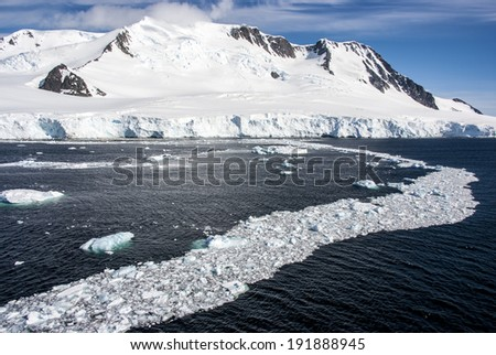 Antarctica - Landscape And Alleys Ice - Antarctic Peninsula - Palmer Archipelago - Neumayer Channel / Antarctica - Landscape And Alleys Ice - stock photo