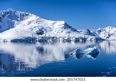 Antarctica Outstanding Natural Beauty  - stock photo