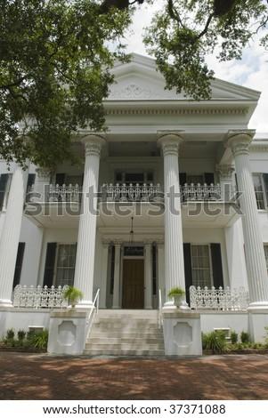 antebellum home in Natchez Mississippi - stock photo