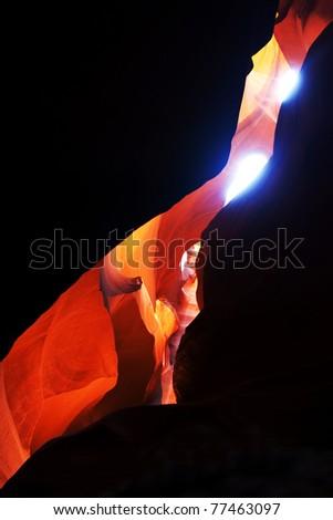 Antelope canyon - stock photo