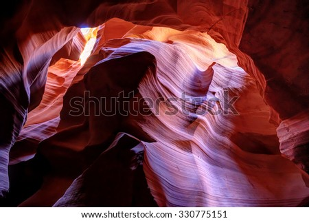 Antelope Canyon like a natural art gallery - stock photo