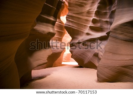 antelope canyon, natural formations - stock photo