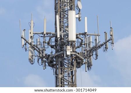 antenna - stock photo