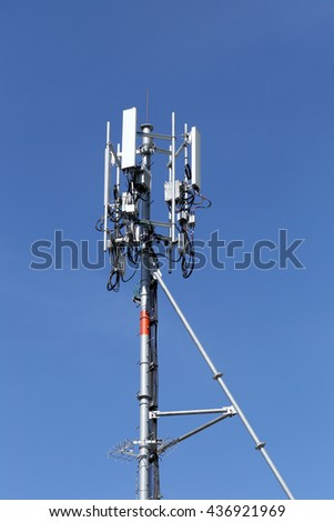 Antenna for Telephone communications in bright sky day time and have equipment connection tool of Wireless Internet business.