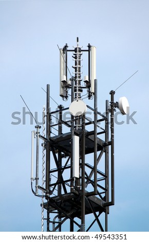 antenna mast - stock photo