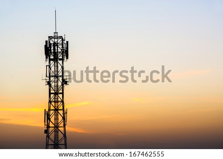 Antenna mobile Telecommunication - stock photo