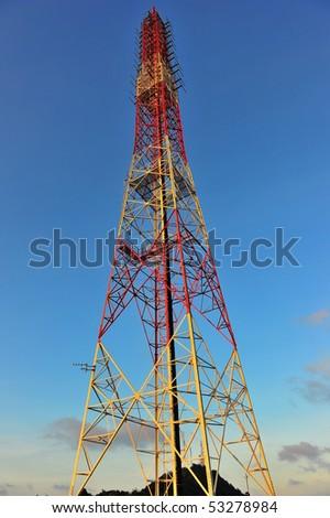 Antenna pillar - stock photo