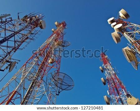Antenna signal. - stock photo