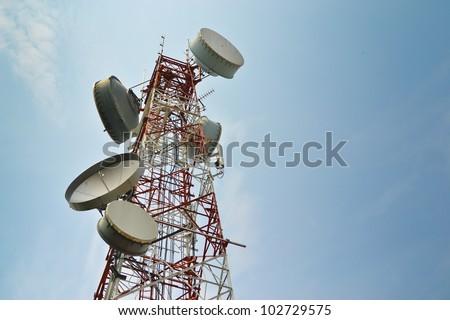 Antenna Tower of Communication - stock photo