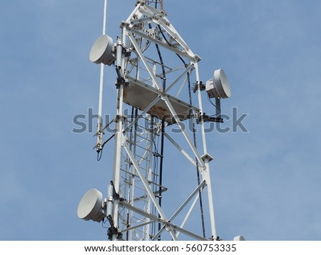 antenna with the sky