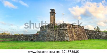Anthonisz Memorial Clock Tower in Galle, Sri Lanka - stock photo
