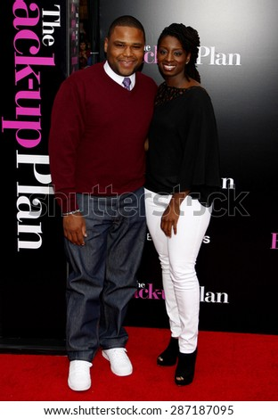 Anthony Anderson at the Los Angeles premiere of 'The Back-Up Plan' held at the Regency Village Theatre in Westwood on April 21, 2010. - stock photo