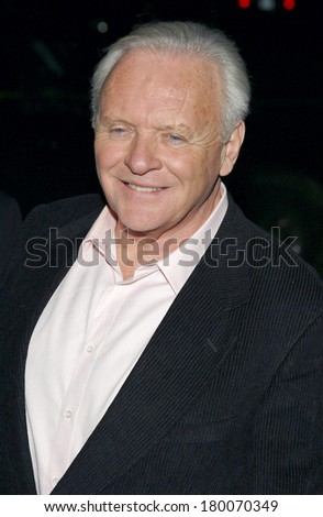 Anthony Hopkins at THE WORLD'S FASTEST INDIAN Premiere, Tribeca Grand Hotel Screening Room, New York, NY, January 24, 2006