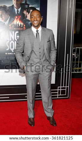 "Anthony Mackie at the Los Angeles premiere of ""Gangster Squad"" held at the Grauman's Chinese Theatre in Los Angeles, USA on January 7, 2013. - stock photo"