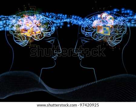 Anthropocentric technology background suitable as a backdrop for projects on modern technology, digital revolution, scientific thinking, science and technology related issues