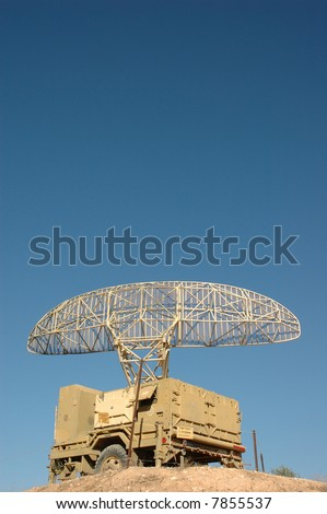 Anti aircraft radar - stock photo