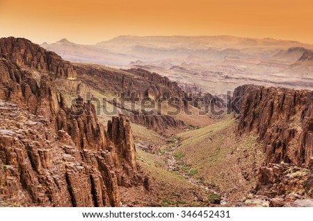 Anti Atlas Mountains, South Morocco, Africa - stock photo