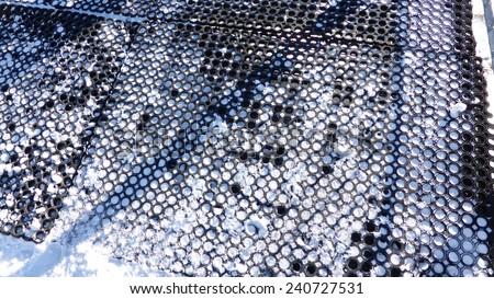 anti slippery surface - stock photo
