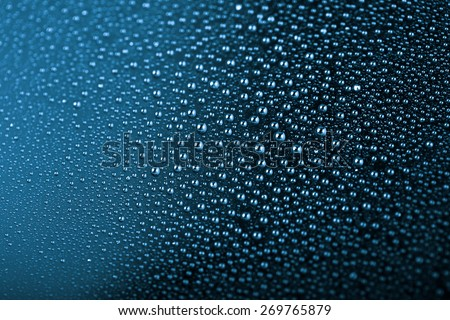 anti water surface with drops - stock photo