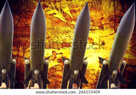 antiaircraft missiles abstract grunge dramatic photo - stock photo