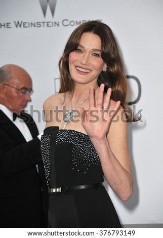 ANTIBES, FRANCE - MAY 22, 2014: Carla Bruni  at the 21st annual amfAR Cinema Against AIDS Gala at the Hotel du Cap d'Antibes.