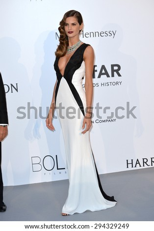 ANTIBES, FRANCE - MAY 21, 2015: Izabel Goulart at the 2015 amfAR Cinema Against AIDS gala at the Hotel du Cap d'Antibes, as part of the 68th Festival de Cannes. - stock photo