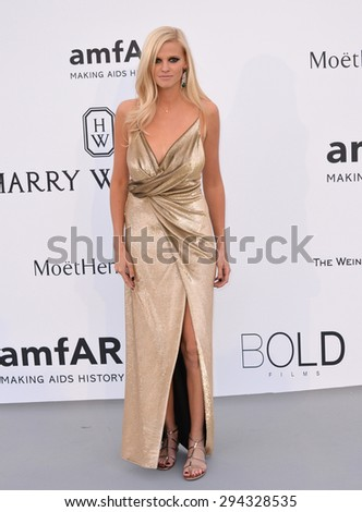 ANTIBES, FRANCE - MAY 21, 2015: Lara Stone at the 2015 amfAR Cinema Against AIDS gala at the Hotel du Cap d'Antibes, as part of the 68th Festival de Cannes. - stock photo