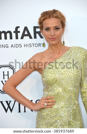 ANTIBES, FRANCE - MAY 21, 2015: Petra Nemcova at the 2015 amfAR Cinema Against AIDS gala at the Hotel du Cap d'Antibes, as part of the 68th Festival de Cannes.