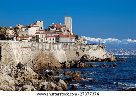 Antibes, French Riviera - stock photo