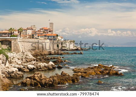 Antibes looking to Nice - stock photo