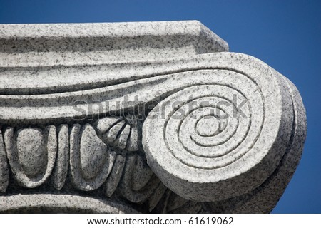 antic column detail , architectural background - stock photo