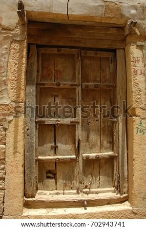 Antic Wood Door & Antic Wood Door Stock Photo 702943741 - Shutterstock