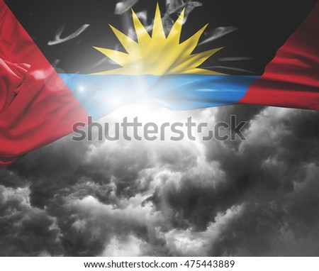 Antigua and Bermuda flag on a bad day