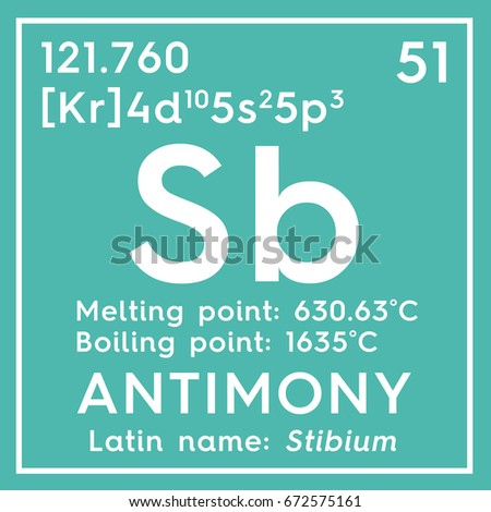 Antimony Stibium Metalloids Chemical Element Mendeleevs Stock